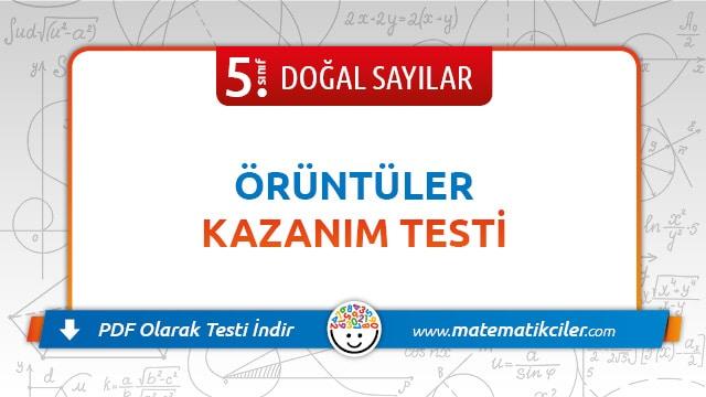 5 Sinif Oruntuler Testi Pdf Indir Matematikciler Com