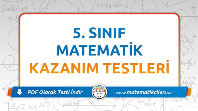 5 Sinif Matematik Testi Pdf Indir Matematikciler Com
