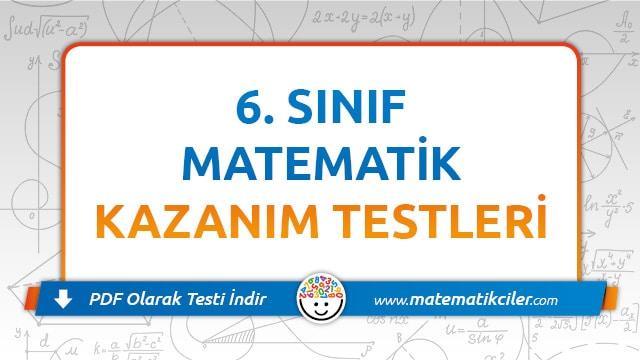 6 Sinif Matematik Testi Pdf Indir Matematikciler Com