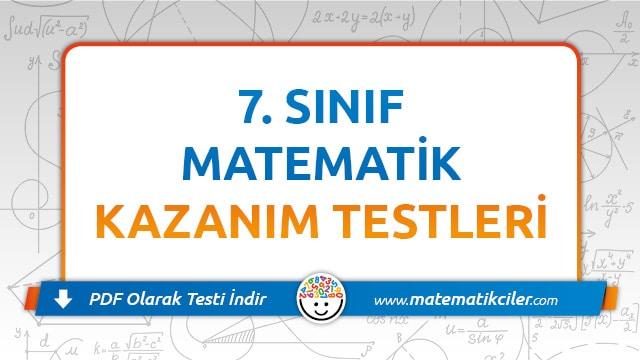 7 Sinif Matematik Testi Pdf Indir Matematikciler Com
