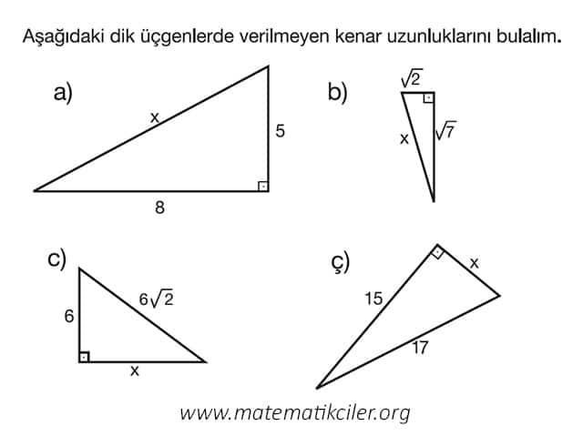 Pisagor Teoremi Örnekleri